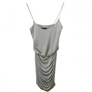 Zimmermann Ruched Silver Dress