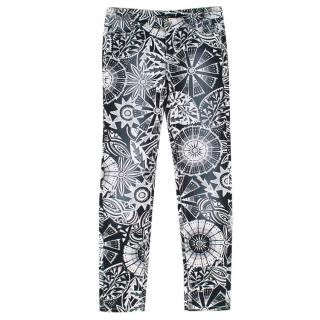 Marc Cain Black and White Print Denim Jeans