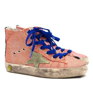 Golden Goose Kids Striped High Top Trainers