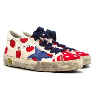 Golden Goose Kids Red Polka Dot Superstar Trainers