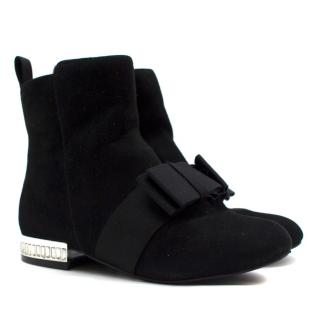 Miss KG Girls Black Suede Ankle Boots