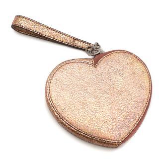 Gucci Girls Pink Leather Wristlet Purse
