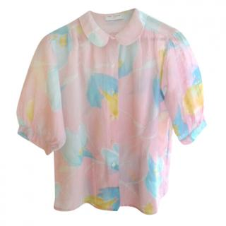 Anne Fontaine Pink Semi Sheer Blouse