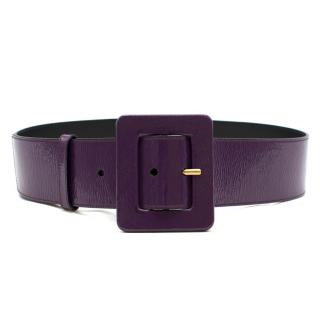 Yves Saint Laurent Purple Patent Leather Belt