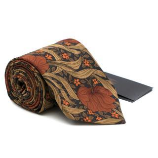 Burberry Multi-coloured Floral Print Cotton Tie