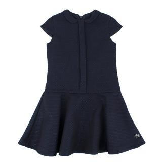 Tartine et Chocolat Girls Metallic Navy Cloque Dress