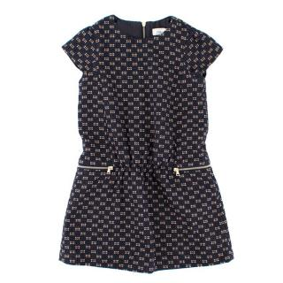 Tartine et Chocolat Girls Navy and Pink Knit Dress