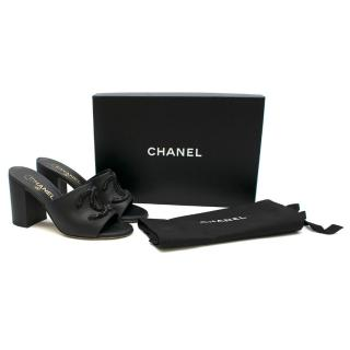 Chanel Black Leather CC Embellished Mules - Current Season & Sold Out