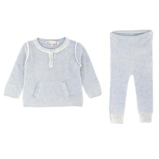 Bonpoint Baby 6M Blue Cashmere Sweater & Pants