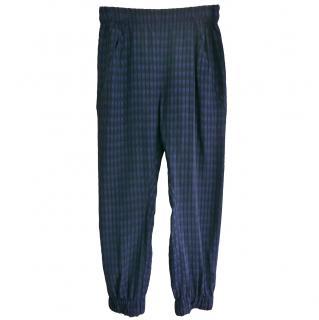 Zero+Maria Cornejo Blue Printed Trousers