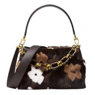 Michael Kors 'Miranda' Mink Fur Shoulder Bag