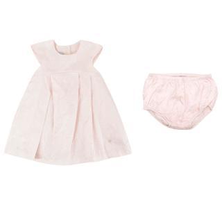 Dior Baby Pink Floral Silk Dress and Pants Set