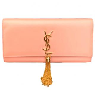 Saint Laurent Peach Kate Tassel Clutch