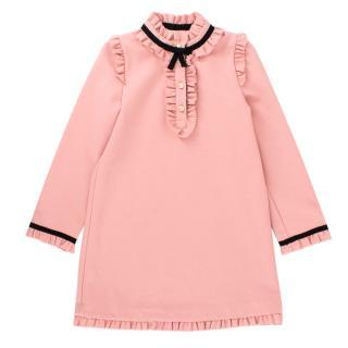 Gucci Girls' Pink Long Sleeved Dress