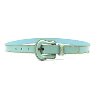 Fendi Turquoise Leather Belt