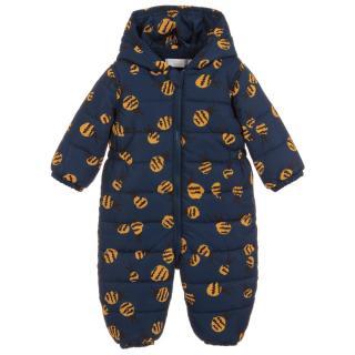 Stella McCartney Babies 6M Navy Bee Print Snowsuit