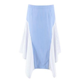 Stella McCartney Blue & White Striped Midi Skirt