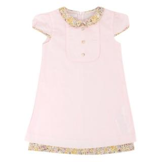 Gucci Girls Light Pink Cotton Dress