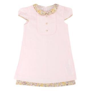 Gucci Girls Light Pink Cotton Dress