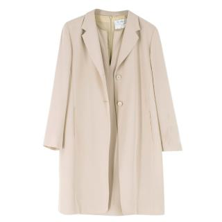 Max Mara Stone Sleeveless Dress & Jacket