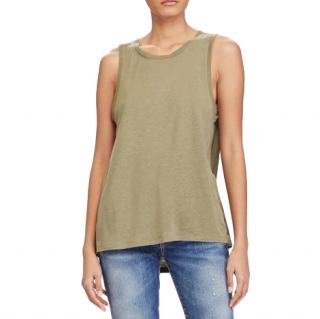 Polo Ralph Lauren Khaki Sleeveless Top