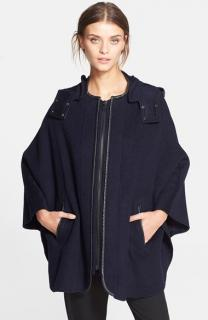 MARNI FOX FUR Trimmed 3/4 sleeve GRAY Wool cropped jacket Coat top SZ42