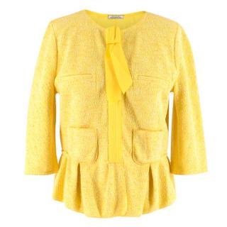 Nina Ricci Yellow Tweed Jacket
