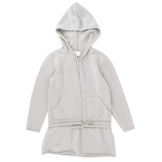 La Perla Girls' Light Grey Cashmere Cardigan