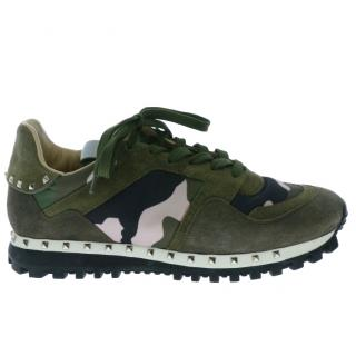 Valentino Camouflage Rockstud Trainers