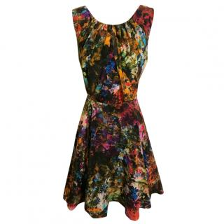 Erdem Multi-Coloured Fit & Flare Silk Floral Dress