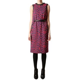 Christopher Kane leopard-print ponte-jersey dress