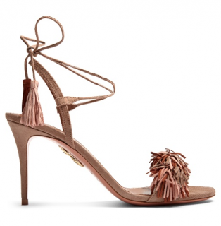 Aquazzura Wild Thing suede fringed sandals