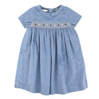 Gucci Girls Blue Soft Cotton Dress