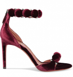 Alaia Bombe 90 studded velvet sandals