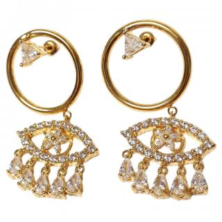 Shourouk Crystal Evil Eye Earrings