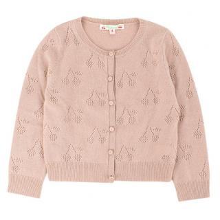 Bonpoint Girls 4-years Dusty Pink Knit Cardigan