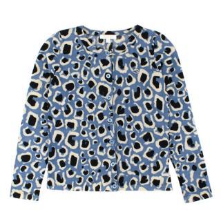 Gucci Girls Printed Wool Cardigan