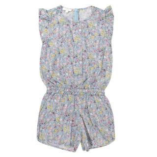 Gucci Girls 4-years Blue Floral Playsuit