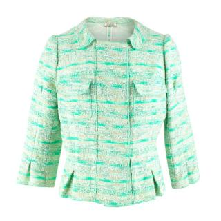 Nina Ricci Green Wool Tweed Jacket
