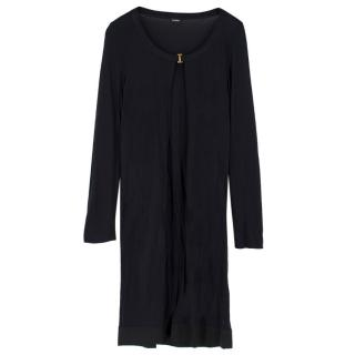 La Perla Black Silk-blend Long Cardigan