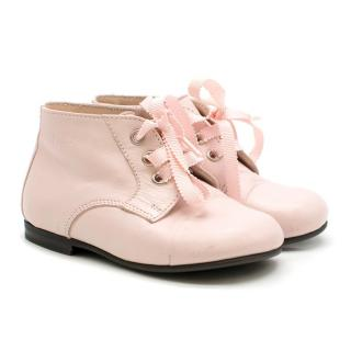 Dior Baby Pink Leather Boots