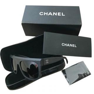 Chanel Polarized Matte Black Sunglasses