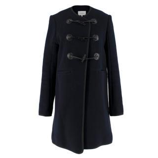 Carven Navy Wool-blend Felt Jacket