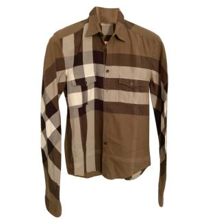 Burberry Brit Men's Olive Nova Check Shirt