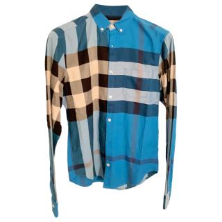 Burberry Brit Men's Blue Nova Check Shirt