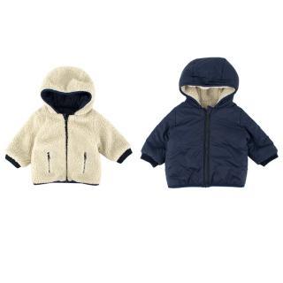 Bonpoint Boys Navy & Faux-fur Reversible Jacket