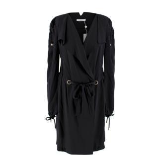Viktor & Rolf Black Silk Wrap Dress