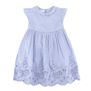 NG (Alessa M) Gucci Girls Blue Cutwork Embroidery Dress