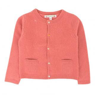 Bonpoint Girls Pink Cashmere Cardigan