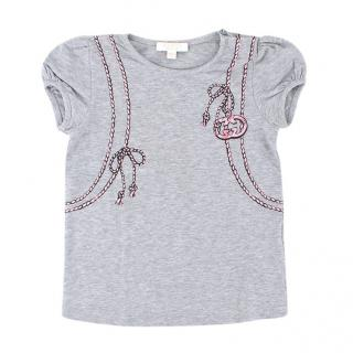 Gucci girls 18-24M Grey Print Backpack T-shirt